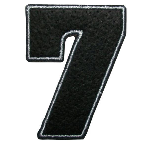 Loja De Armarinhos E Aviamentosetiqueta Numero 7 Termocolante Preto 4
