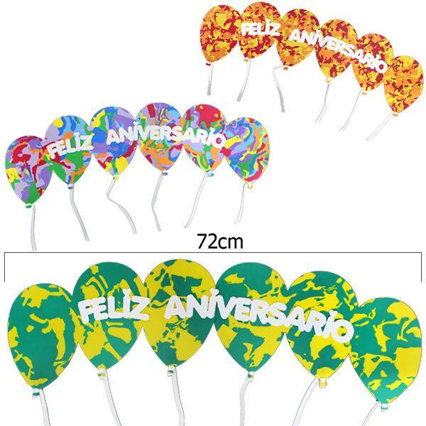 Loja De Armarinhos E Aviamentos Balões De Eva Feliz Aniversário Sortid