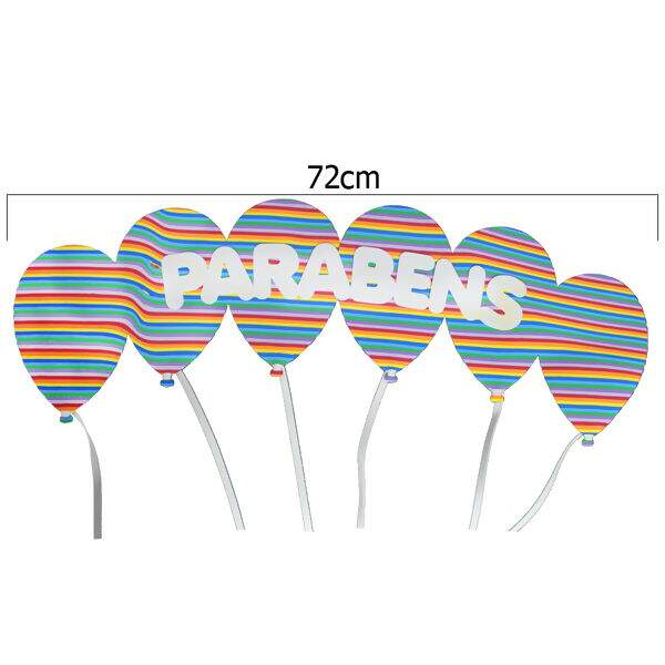Loja De Armarinhos E Aviamentos Balões De Eva Parabéns Sortid