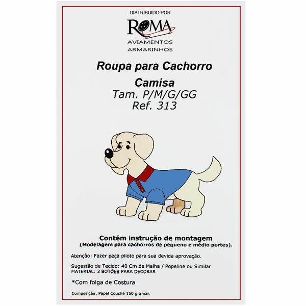 56811fd0f0137 Loja de aviamentos e armarinhos Molde para roupa de cachorro Nº313 Cam